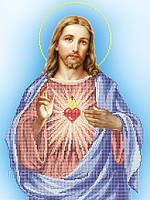 Схема для вышивки иконы бисером Найсвятейшее сердце Христово