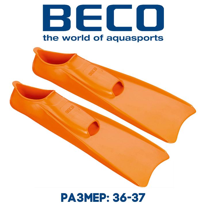 Ласты для плавания BECO 9910 3 оранжевые р.36-37