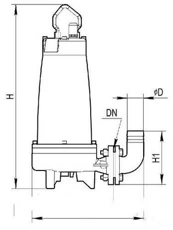 Дренажно-фекальный насос VARNA CUT 26-7-1.5 CS, фото 2
