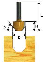 Фреза пазовая фасонная ф11.9х13, 22°, хв.8мм (арт.10511)