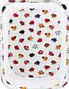Манеж Qvatro Classic-02 мелкая сетка  белый (разноцветные коровки), фото 2