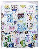 Детская постель Qvatro Gold RG-08 рисунок  белый (бирюзовые большие совы), фото 3