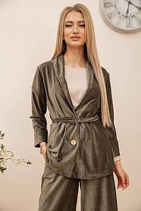 Пиджак женский 115R363-18 цвет Хаки