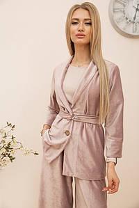 Пиджак женский 115R363-17 цвет Пудровый
