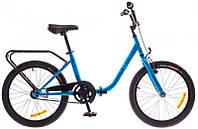 """Велосипед 20"""" Dorozhnik FUN 14G St с багажн. синий 2016"""