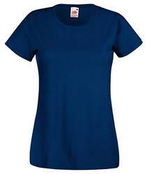 Женская футболка однотонная темно-синяя 372-32