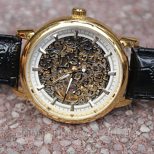 Часы Winner Skeleton Gold Механика, фото 1