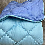 Одеяло на холлофайбере ОДА Евро размера 200х220 Стеганное зимнее одеяло высокого качества, фото 5