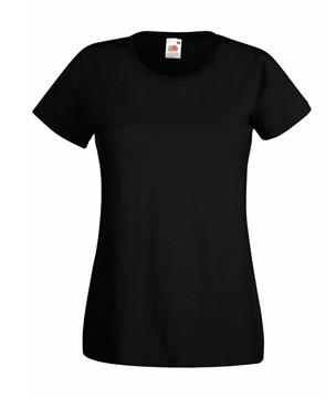 Женская футболка однотонная черная 372-36