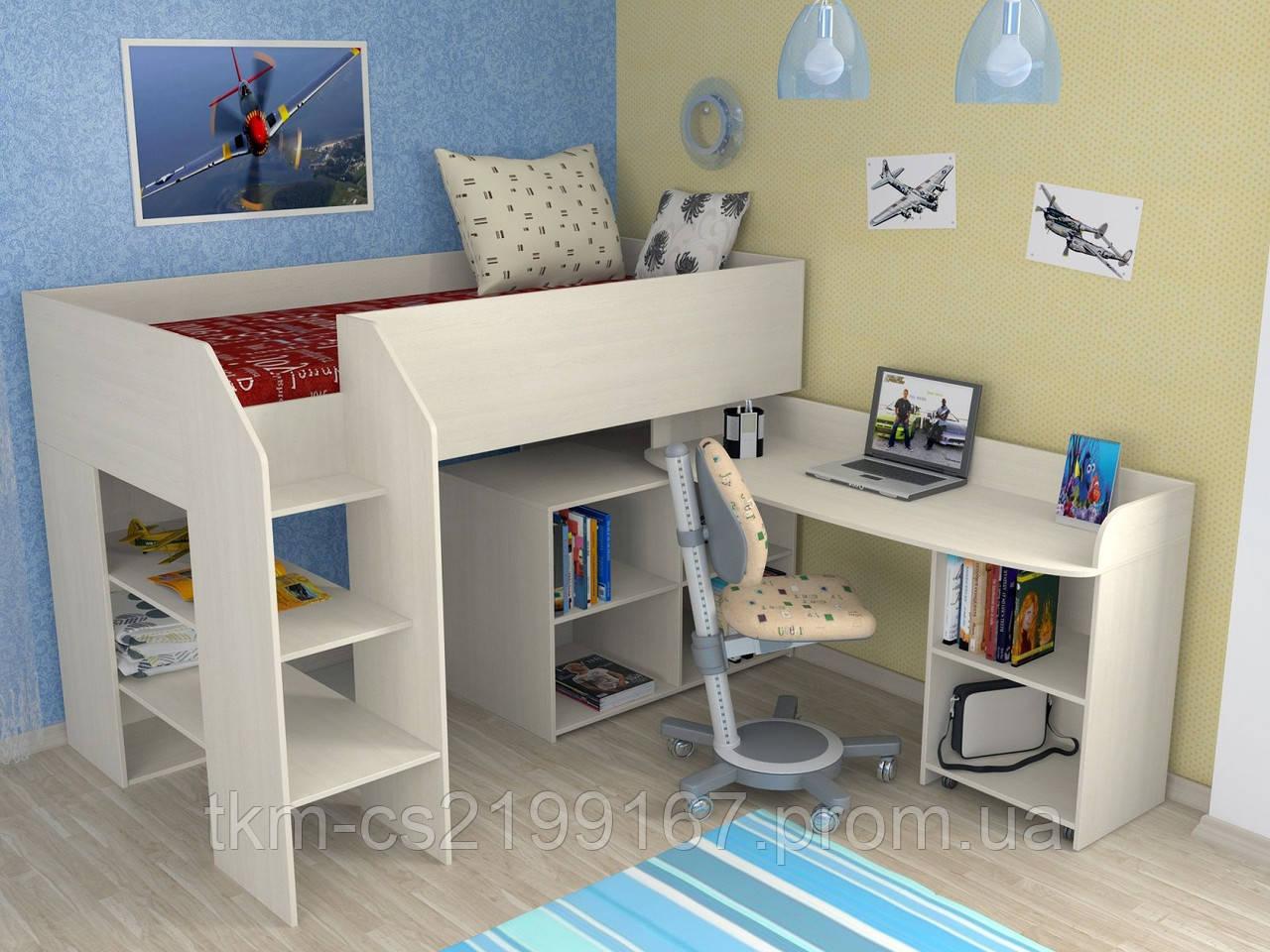 Кровать чердак Венди - ТКМ- Твоя Корпусная Мебель в Киеве