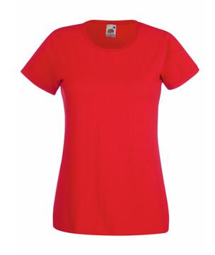 Жіноча футболка однотонна червона 372-40