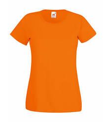 Женская футболка однотонная оранжевая 372-44