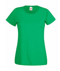 Женская футболка однотонная зеленая 372-47