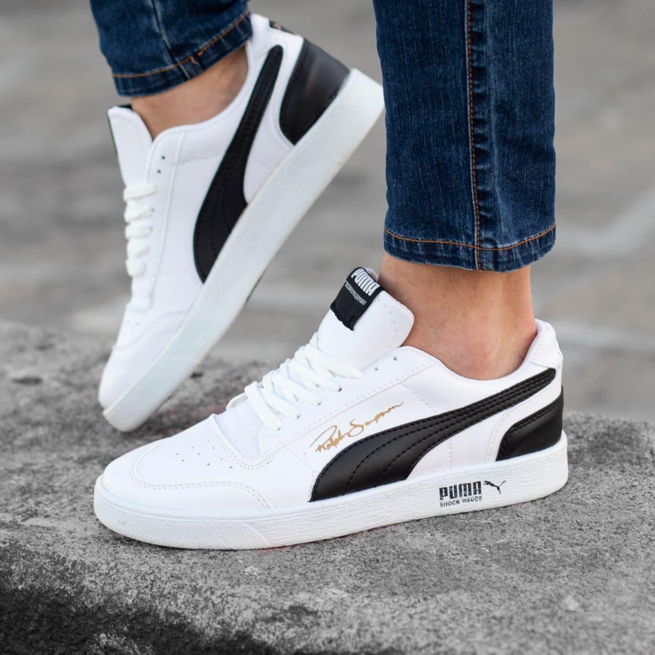 Чоловічі кросівки Puma Ralph Sampson (біло-чорні) 9116 спортивна крута взуття для хлопців