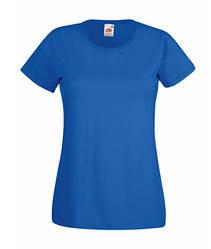 Женская футболка однотонная синяя 372-51