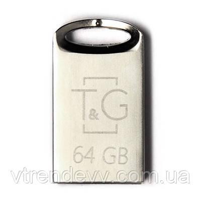 USB Flash 64GB T&G 107 Metal Series Silver (TG107-64G)