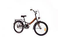 "Велосипед 20"" Dorozhnik SMART 14G St с багажн. серый с оранжевым (м) 2016"