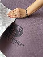 Коврик для йоги TPE  183 х 61 х 0,6 см 2-х слойный, фото 3
