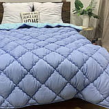Одеяло на холлофайбере ОДА Евро размера 200х220 Стеганное зимнее одеяло высокого качества, фото 3