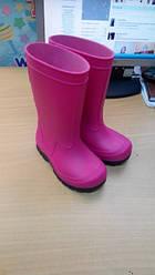 Резиновые  сапоги на девочку,  цвет розовый, 29\30 размер