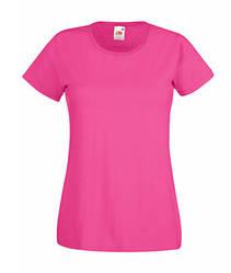 Женская футболка однотонная малиновая 372-57