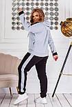 Теплий спортивний костюм трехніть кофта на блискавці штани розмір: 50-52, 54-56, 58-60, 62-64, фото 5