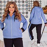 Теплий спортивний костюм трехніть кофта на блискавці штани розмір: 50-52, 54-56, 58-60, 62-64, фото 4
