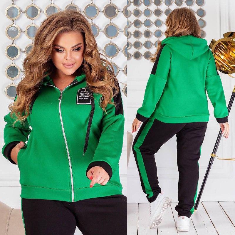 Теплий спортивний костюм трехніть кофта на блискавці штани розмір: 50-52, 54-56, 58-60, 62-64
