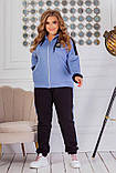 Теплий спортивний костюм трехніть кофта на блискавці штани розмір: 50-52, 54-56, 58-60, 62-64, фото 9