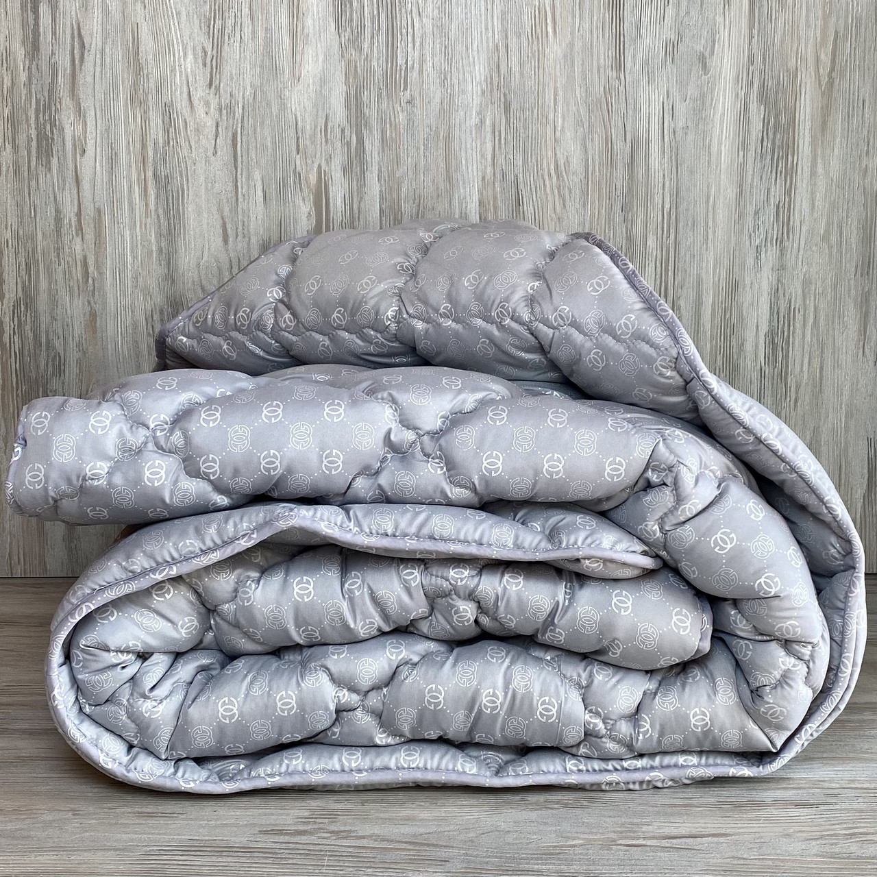 Одеяло на холлофайбере ОДА Евро размера 200х220 Стеганное зимнее одеяло высокого качества
