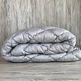 Одеяло на холлофайбере ОДА Евро размера 200х220 Стеганное зимнее одеяло высокого качества, фото 4
