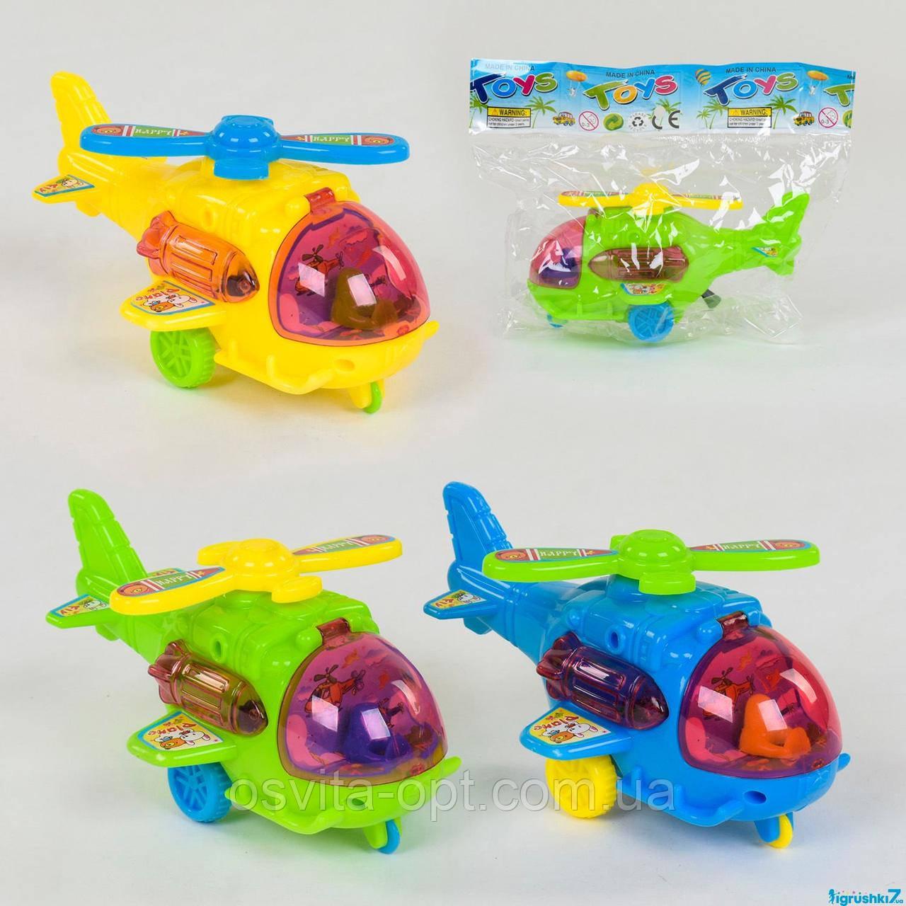 Вертолёт заводной 551-1 (480/2) 3 цвета, в кульке