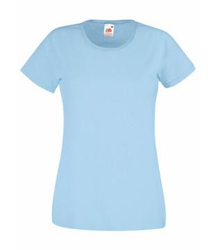 Женская футболка однотонная голубая 372-YT