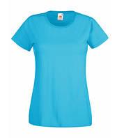 Женская футболка однотонная 372-ZU