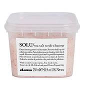 Очищающая паста-скраб Davines SOLU sea salt scrub cleancer с морской солью 250 мл