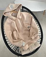 Женское стильное худи на флисе с капюшоном, фото 1