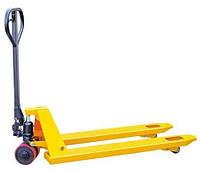 DB2000R (резина, 2т, 1150мм), тележка ручная, гидравлическая для склада (рохля)