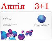 Акция! 3+1Контактные линзы Biofinity CooperVision