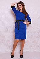 Нарядное женское платье полубатальных размеров  50, 52, 54, фото 1