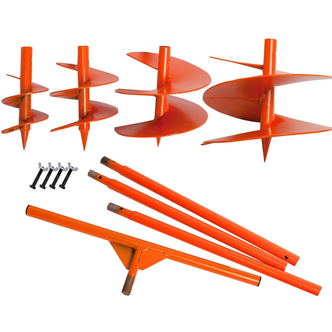 Шнек садово-будівельний бур з насадками 12,17,22,280 см