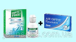 Air Optix plus HydraGlyde 1уп(3шт)