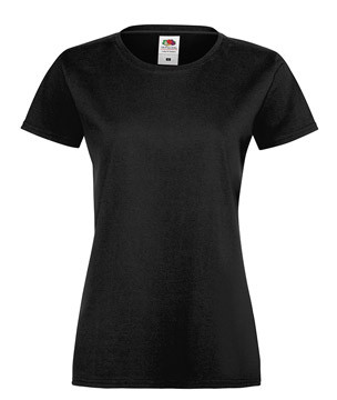Женская футболка хлопок черная 414-36