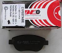 Тормозные колодки передние (137x57.3x18.4) Fiat DOBLO 01-/10- ABE C1F037ABE