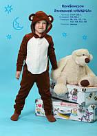 Комбинезон домашний для мальчика с капюшоном МИШКА от ТМ Овен