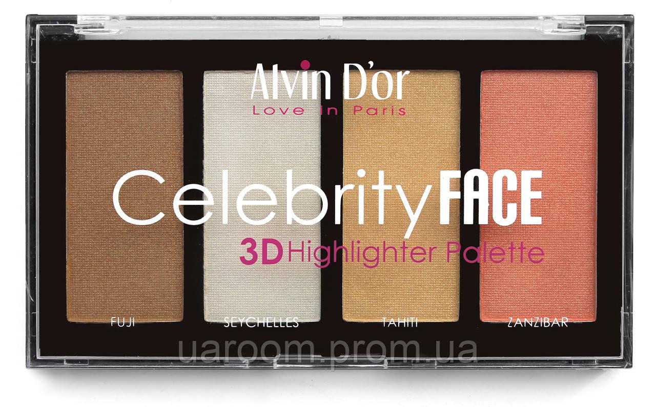 Палітра хайлайтерів Alvin D`or Celebrity Face AV-56