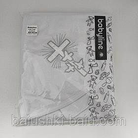 Крыжма (полотенце) махровая для крещения новорожденного (80х80 см), Турция