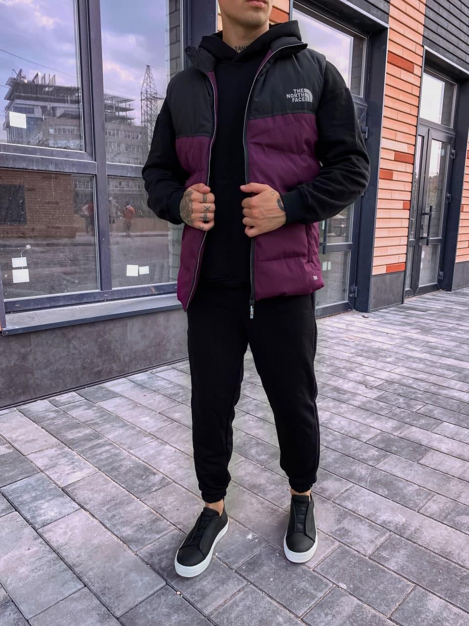 Мужская жилетка осенняя стильная (фиолетовый) легкая жилетка на осень sng6