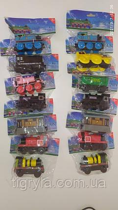 Паровозик Томас та його друзі набір дерев'яних паровозиків і вагончиків на магнітах, фото 2