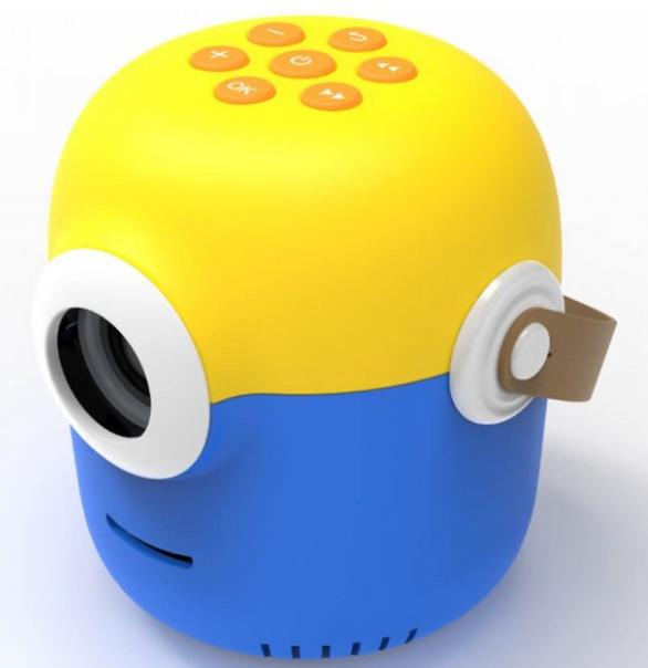 Проектор портативный детский Minion с WiFI подключением к iOS и Android  желто-синий