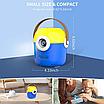 Проектор портативный детский Minion с WiFI подключением к iOS и Android  желто-синий, фото 4